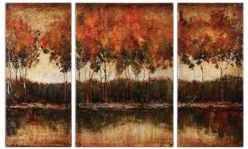 TRILAKES WALL ART - SET OF 3 - 36x56, Unframed - Home Decorators