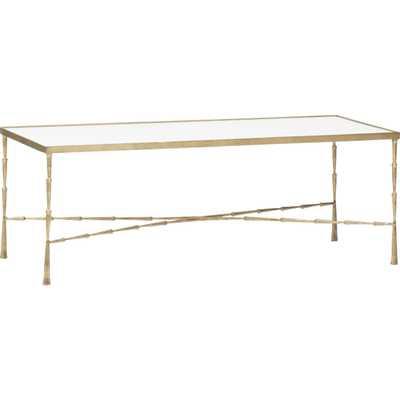 Spike Coffee Table, Brass - High Fashion Home