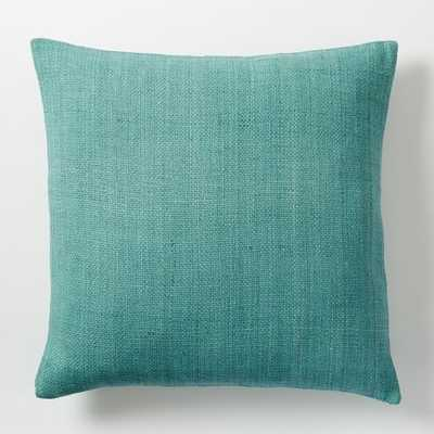 "Silk Hand-Loomed Pillow Cover - 20""sq. Peacock-Insert sold separately - West Elm"