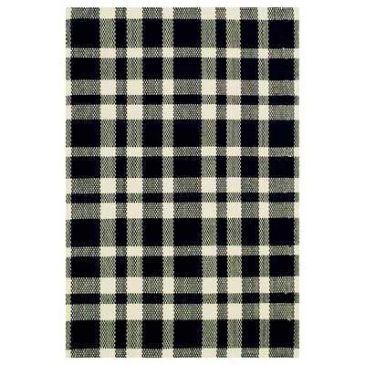 Woven Tattersall Black Area Rug - Wayfair