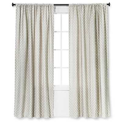 "Woven Curtain Panel Creamy Chai - 54""W x 84""L - Target"