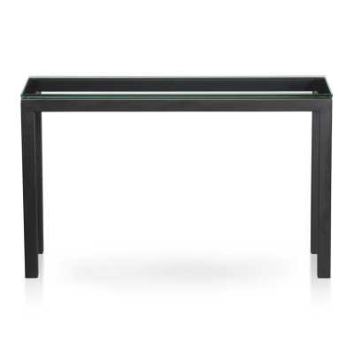 Parsons Console Table with Clear Glass Top - Crate and Barrel