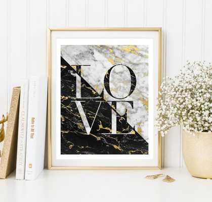 love marble art print - 8x11 - unframed - Etsy