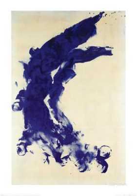 """ANTHROPOMETRIE (ANT 130), 1960- 26.5"""" x 36.5""""- Framed (White) - art.com"""