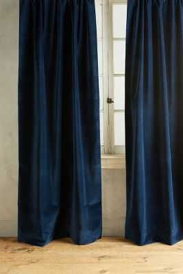 """Matte Velvet Curtain - 108"""" x 50"""" - Anthropologie"""