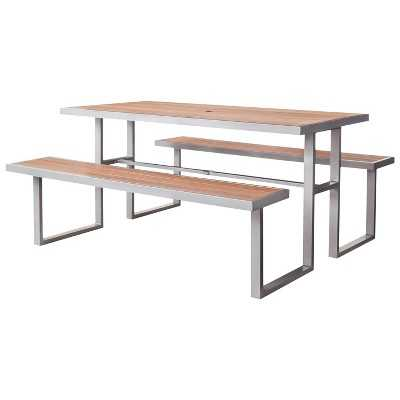 Bryant Faux Wood Patio Picnic Table - Target