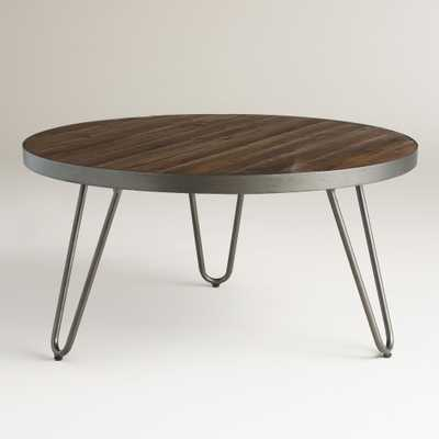 Round Wood Hairpin Coffee Table - World Market/Cost Plus
