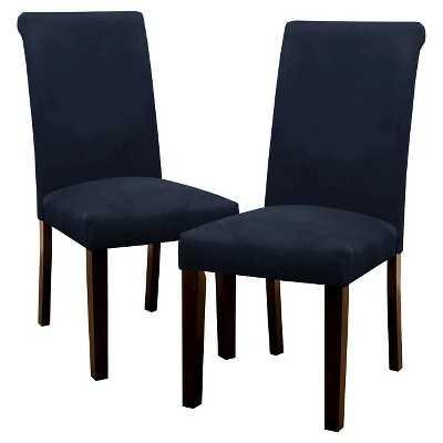 Avington Velvet Dining Chair Wood (Set of 2) - Navy - Target
