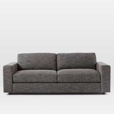 "Urban Sofa 84.5"" - Heathered Tweed, Charcoal - West Elm"