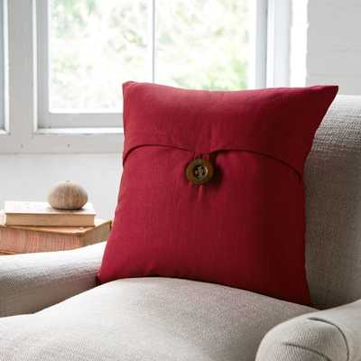 "Lena Pillow Cover - red, 18"" (No insert) - Birch Lane"