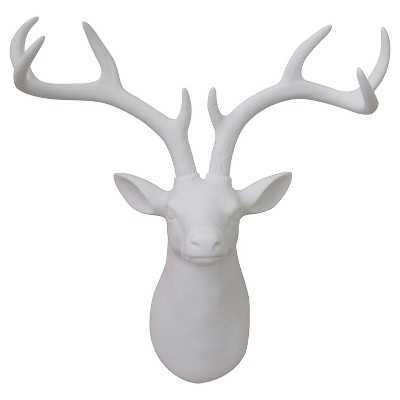 "Stag Head Décor 17""x15"" - White - Target"