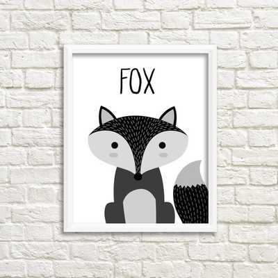Fox Illustration Children's Print - Etsy