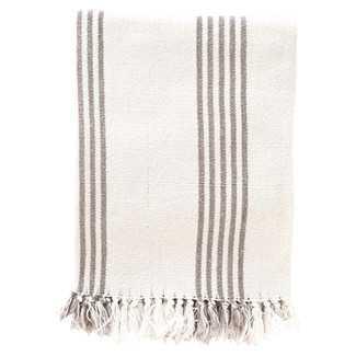 Ibiza Cotton Throw Blanket - Shale - Wayfair