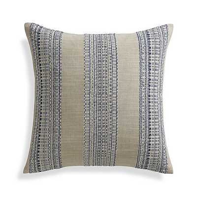 Dabney Pillow -20x20 - Indigo - Feather-Down Insert - Crate and Barrel
