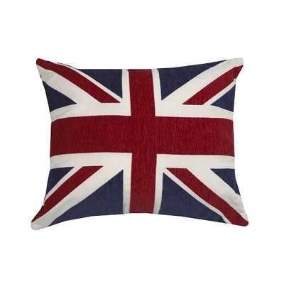 "Urban Loft Union Jack Throw Pillow - Red - 18"" H x 24"" W - Feather insert - AllModern"