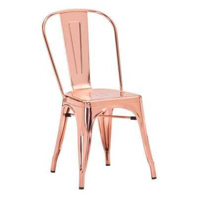 Anita Metal Chair ROSE GOLD - Apt2B