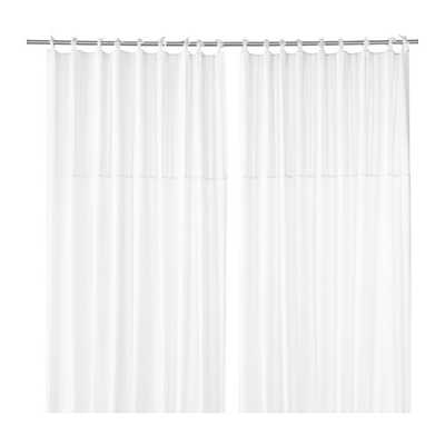 "PÃ""RLBLAD Curtains, 1 pair, white - 98"" x 57"" - Ikea"