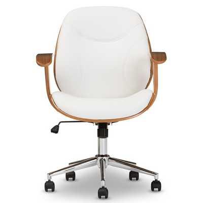 Baxton Studio Rathburn Walnut Modern Office Chair - Overstock