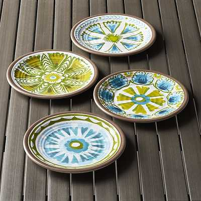 """Caprice 8.5"""" Melamine Plates Set of Four - Crate and Barrel"""