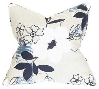Cielo 22x22 Cotton-Blend Pillow, Multi-down insert - One Kings Lane
