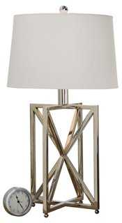 Geometry Table Lamp, Polished Nickle - One Kings Lane