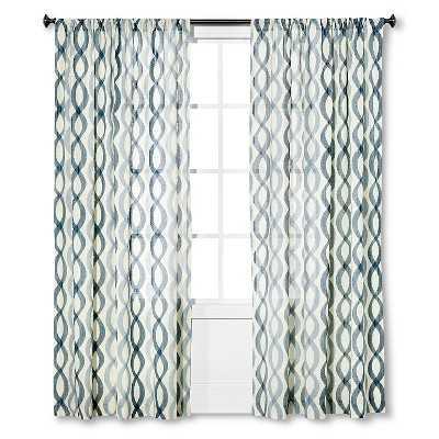 "Thresholdâ""¢ Semi-Sheer Wavy Lines Curtain Panel - Target"