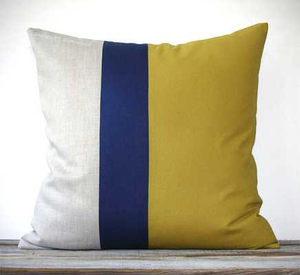 Color Block Pillow - Etsy