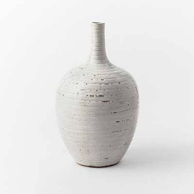 Ceramicist Tall Neck Vase - White - West Elm
