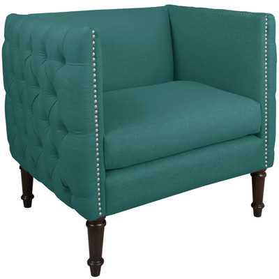 Linen Nail Button Tufted Arm Chair - Wayfair
