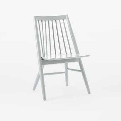 Scissor Spindle Dining Chair  - Individual - Frost gray - West Elm