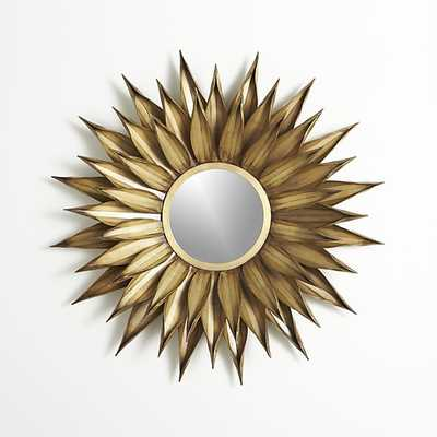 Sunflower Round Wall Mirror - Crate and Barrel