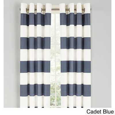 Nautica Cabana Stripe 84-Inch Grommet Top Curtain Panel Pair - Overstock