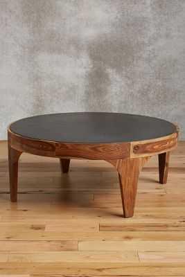 Banla Wood Coffee Table - Anthropologie