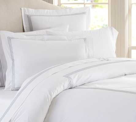 Grand Embroidered Duvet Cover - King - Pottery Barn