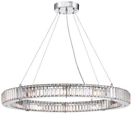 "Possini Euro Mulina 35 1/2"" Wide Crystal Glass Pendant Light - Lamps Plus"