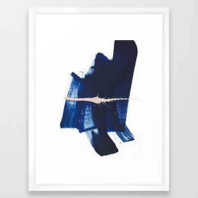 "brush strokes 4 - VECTOR WHITE MEDIUM (GALLERY) (20"" X 26"") - Society6"