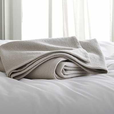 Siesta Grey King Blanket - Crate and Barrel