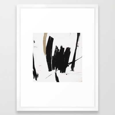 "UNTITLED #17 - FRAMED ART PRINT/ VECTOR WHITE MEDIUM (GALLERY) (20"" X 26"") - Society6"