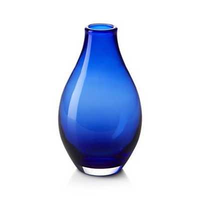 Salena Vase Cobalt Small - Crate and Barrel