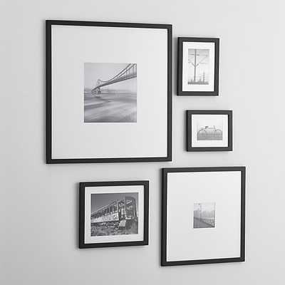 5-Piece Matte Black Picture Frame Set - Crate and Barrel