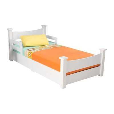 KidKraft Addison Convertible Toddler Bed-White - Wayfair