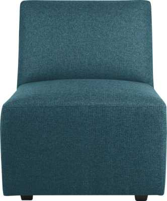 Layne armless sectional chair - Tess: Peacock - CB2