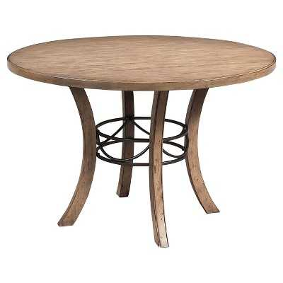 Charleston Round Wood Table with Metal Ring Tan - Hillsdale Furniture - Target