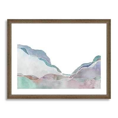 Minted for west elm - Terrain No. 2 - 21x17, Framed with mat - West Elm
