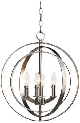 """Equinox Collection Silver 16"""" Wide Pendant Light - Lamps Plus"""