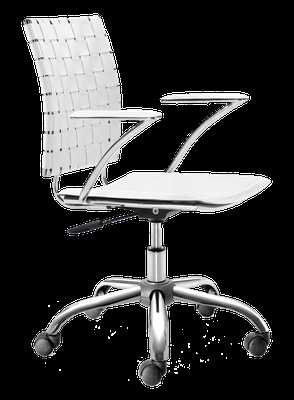 Criss Cross Office Chair White - Domino