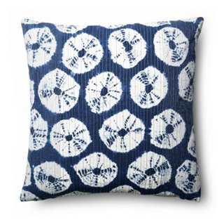Japur 18x18 Cotton Pillow, Navy - One Kings Lane