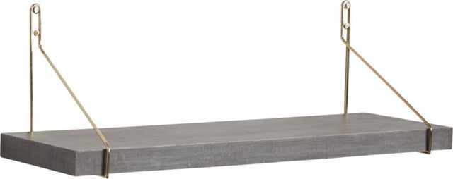 Clad shelf with gold brackets - CB2