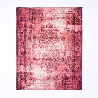 Distressed Arabesque Wool Rug - Shockwave - West Elm