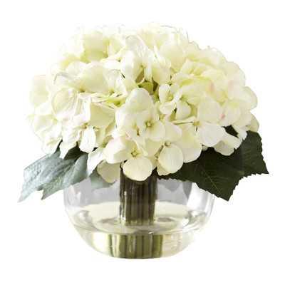 Faux Cream Hydrangea in Water - Wayfair